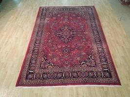 Vivid Red-Blue SOFT & dense pile Handmade 7x10 Rug Persian Traditional Rug - $718.58
