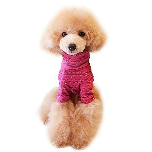 2015 Spring Summer Pet Clothing Classic Sequins Pleated Lace Unlined Upper Ga... - $10.99