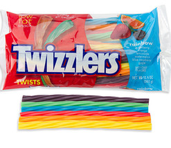 12 Twizzlers Rainbow Licorice Twists: 12 Ounce Bags New Soft Candy - $59.99