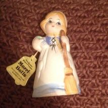 JASCO 1978 MERRI BELLS GIRL PORCELAIN BELL HANDPAINTED W/ Original Tag - $9.99