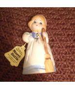 JASCO 1978 MERRI BELLS GIRL PORCELAIN BELL HANDPAINTED W/ Original Tag - $9.99