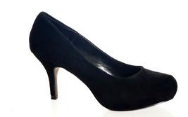 STEVE MADDEN WOMENS PINELOPE Black Suede Leather HIGH HEELS PLATFORM PUM... - $28.79