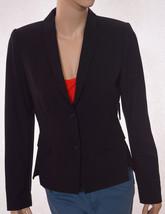 Tahari Tucker Jacket Womens Lined Padded 2 Button Suit Blazer Black 8 - $55.99