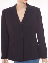 Tahari Arthur S. Levine Womens Black Navy Pinstripe Lined Suit Jacket Bl... - $55.99