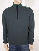 Hugo Boss Piceno Men's Green Corduroy Elbow Patches 1/2 Zip Pullover Swe... - $85.99
