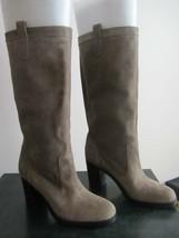 Lauren Ralph Lauren Devona Womens Gray Suede Leather Fashion Mid-Calf Boots 5 - $79.99
