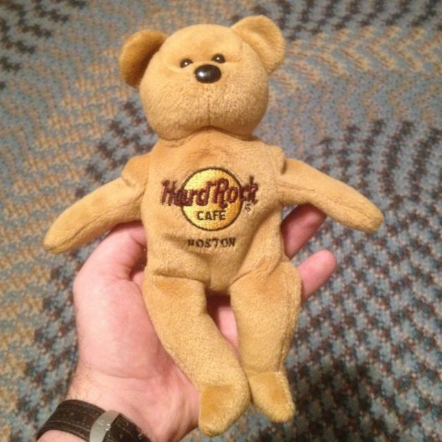 Primary image for HRC Hard Rock Cafe Beanbag Collectible Bear Boston MA