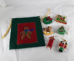 6 Christmas Ornaments & Pouch Avon Gift Collection F667171 - $15.00