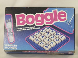 Boggle 1992 Board Game 4 x 4 Letter Grid Shaker Bilingual 100% Complete EUC - $9.04