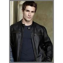 Custom Handmade Being Human Aidan Black Leather Jacket, Biker Leather Jacket men - $149.99