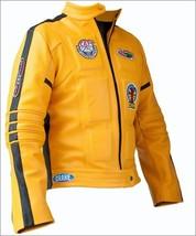 Handmade Kill Bill Uma Thurman Movie Men Leather Jacket, Yellow Color Jacket - $149.99