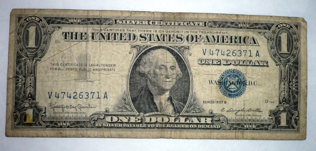 dollar certificate 1957 bill silver seal series circulated certificates does bonanza sold seller