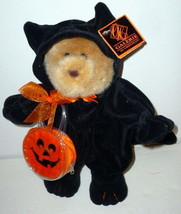 Adorable Halloween Teddy Bear in a Black Cat Costume - £12.03 GBP