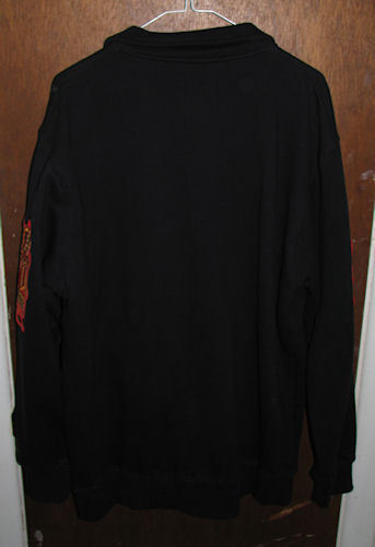 Avirex Zip Front Sweatshirt Jacket Tattoo Black Size Medium