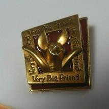 Disney Winnie the Pooh-Piglet Gold-tone/Enamel Photo Frame Brooch Very B... - $22.50