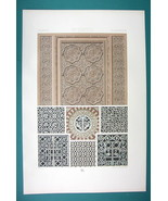 BYZANTINE Ornaments 4-6th C Cairo Ravenna  - COLOR Litho Print by Racinet - $20.21
