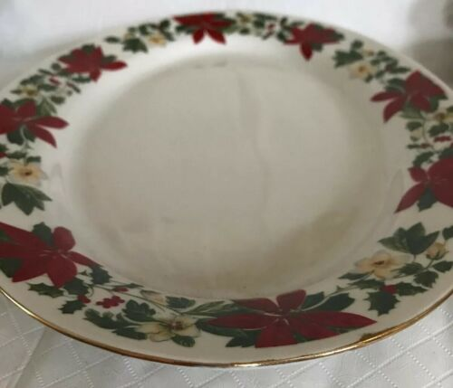 Gibson China Poinsettia Serving Platter Oval Tray Vegetable Bowl Holiday Decor image 10
