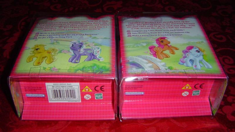 My Little Pony 2 pack Sparkleworks and Butterscotch 2003 Hasbro