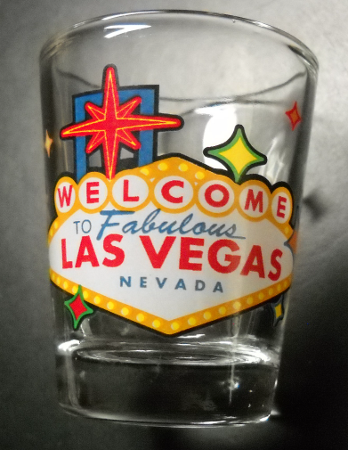 Welcome To Fabulous Las Vegas Neveda Shot Glass Large Iconic Welcome Sign Clear