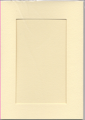 Ivory Rectangular Large Needlework Cards 5x7 cross stitch