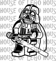 DARTH VADER Star Wars LEGO Decal Apple Macbook Laptop Vinyl Sticker Decal - $8.00