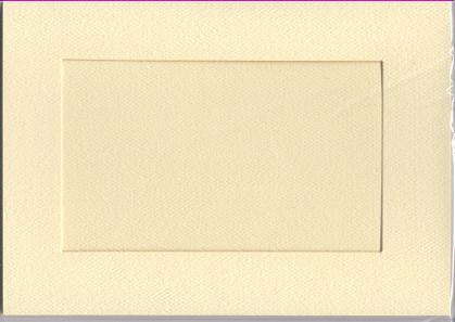 5374 ivory large rect needlework card