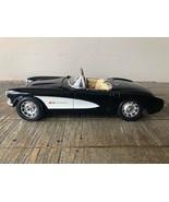 1957 Chevrolet Corvette, Black/White. Burago 1/18 Scale Diecast, Made in... - $46.07