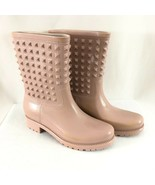 Seven Color Womens Rain Boots Spiked Rubber Slip On Blush Pink Waterproo... - $30.95