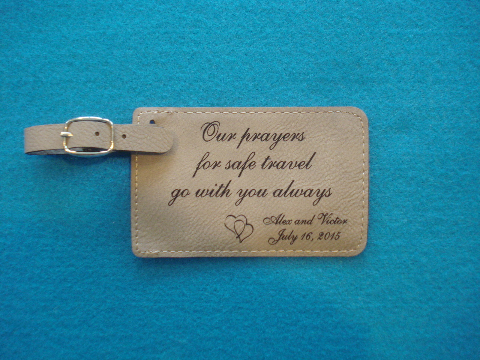 Personalized Luggage Tags Wedding Gift: 100 Custom WEDDING FAVORS