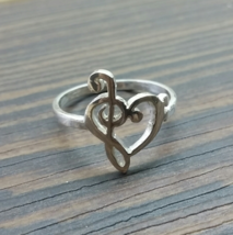 Ring - Music Bass Clef - 925 Sterling Silver  - $48.00