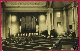 Perry Iowa M E Church Interior Ia Postcard - $10.00