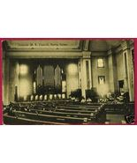 PERRY IOWA M E Church Interior IA Postcard - $10.00