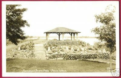 PASCO WASHINGTON Sacajawea State Park RPPC Ellis WA