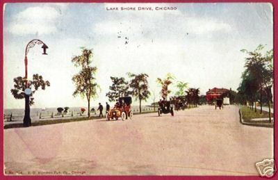 CHICAGO ILLINOIS Lake Shore Dr Cars IL PC 1907