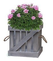 Distressed Wood Crate Planter - $24.99