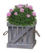 New Vintiquewise Distressed Wood Crate Planter, QI003111 - $31.62 CAD