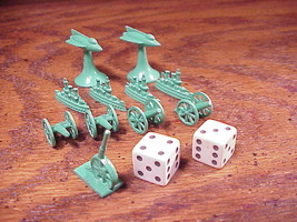 Lot of 11 Green Metal Conflict Game Pieces, for 1964 Parker Brothers plu... - £6.50 GBP
