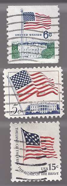 Stamps 3 flags