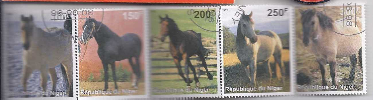 Stamps 5 horses
