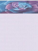 NEW Blue & Purple Rose Letterhead Stationery Paper 26 Sheets [Office Pro... - $9.99