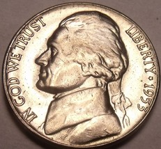 United States Unc 1953-D Jefferson Nickel~Excellent~Free Shipping - $4.84