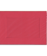 Red Rectangular Large Needlework Cards 5x7 cross stitch - $5.00