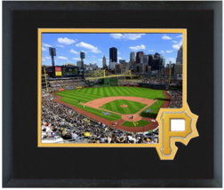 PNC Park Home of the Pittsburgh Pirates - 11 x 14 Team Logo Matted/Framed Photo - $43.55