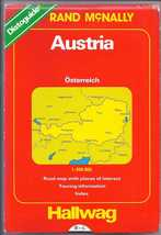 RAND MCNALLY HALLWAG AUSTRIA Road Map 1994 - $5.95