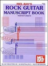 Rock Guitar Manuscript Book/Tear Out Sheets/Bla... - $5.99