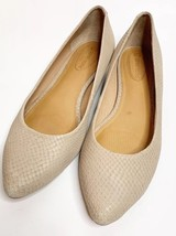 CORSO COMO FLATS LEATHER 9.5 Laser Cut Leather ANTHROPOLOGIE Ivory Snake - $36.76