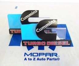 New Dodge Ram Heavy Duty Cummins Turbo Diesel Fender Emblems,2 Nameplates, Mopar - $84.95