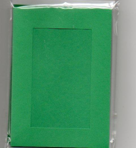 Christmas Green Rectangular Large Needlework Card 5x7 cross stitch