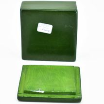 """Vaneal Group Hand Carved Kisii Soapstone Puppy Dog Love Green 3"""" Trinket Box image 5"""