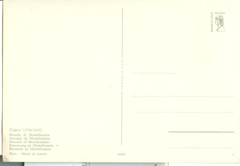 Corot, Souvenir of Mortefontaine, unused Postcard